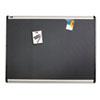 QRTMB543A Prestige Plus Magnetic Fabric Bulletin Board, 36 x 24, Aluminum Frame QRT MB543A