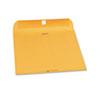 QUA37590 Clasp Envelope, Side Seam, 9 x 12, 28lb, Brown Kraft, 250/Carton QUA 37590