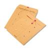 QUA63563 Brown Kraft Kraft String & Button Interoffice Envelope, 10 x 13, 100/Carton QUA 63563