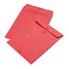 QUA63574 Colored Paper String & Button Interoffice Envelope, 10 x 13, Red, 100/Box QUA 63574