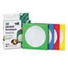 QUA68905 Colored CD/DVD Paper Sleeves, 50/Box QUA 68905