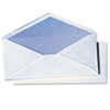 QUA69017 White Wove Security Business Envelope Convenience Packs, V-Flap, #10, 40/Box QUA 69017
