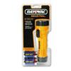 Industrial Tough Flashlight, 2 D Batteries, Yellow/Black - RAYI2DBC-UNS