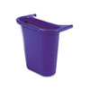 Recycling bin attaches inside or outside wastebasket.