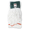 RCPA25206WHI Web Foot Shrinkless Looped-End Wet Mop Head, Cotton/Synthetic, Medium, White RCP A25206WHI
