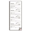 RED23L117 Money and Rent Unnumbered Receipt Book, 5 1/2 x 2 3/4, Two-Part, 500 Sets/Book RED 23L117