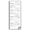 RED23L119 Money and Rent Unnumbered Receipt Book, 5 1/2 x 2 3/4, Three-Part, 120 Sets/Book RED 23L119
