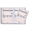 RED50226 Wirebound Message Book, 4 x 5 1/2, Two-Part, 100 Sets/Book RED 50226