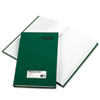 RED56131 Emerald Series Account Book, Green Cover, 300 Pages, 12 1/4 x 7 1/4 RED 56131