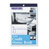 RED7L787 Credit Memo Book, 5 1/2 x 7 7/8, Carbonless Triplicate, 50 Sets/Book RED 7L787