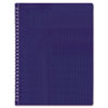REDB4182 Poly Cover Notebook, 8 1/2 x 11, 80 Sheets, Ruled, Twin Wire Binding, Blue Cover RED B4182