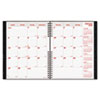 REDCB1262CBLK CoilPRO Monthly Planner, Ruled, 8-1/2 x 11, Black, 2012-2014 RED CB1262CBLK