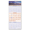 Visual Organizer Scenic Three-Month Wall Calendar