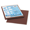 PAC103024 Tru-Ray Construction Paper, 76 lbs., 9 x 12, Dark Brown, 50 Sheets/Pack PAC 103024