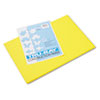 PAC103036 Tru-Ray Construction Paper, 76 lbs., 12 x 18, Yellow, 50 Sheets/Pack PAC 103036