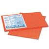 PAC103426 Tru-Ray Construction Paper, 76 lbs., 12 x 18, Pumpkin, 50 Sheets/Pack PAC 103426