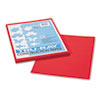 PAC103431 Tru-Ray Construction Paper, 76 lbs., 9 x 12, Festive Red, 50 Sheets/Pack PAC 103431