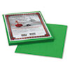 PAC103596 Riverside Construction Paper, 76 lbs., 9 x 12, Green, 50 Sheets/Pack PAC 103596