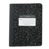 ROA77222 Marble Cover Composition Book, Wide Rule, 9-3/4 x 7-1/2, 60 Pages ROA 77222