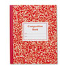 ROA77922 Grade School Ruled Composition Book, 9-3/4 x 7-3/4, Red Cover, 50 Pages ROA 77922