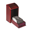 ROL1734243 Wood Tones Photo Frame Business Card File Holds 300 2 1/4 x 4 Cards, Mahogany ROL 1734243
