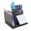 ROL22171 Wire Mesh Desk Organizer with Pencil Storage, 5 3/4 x 5 1/8 x 5 1/8, Black ROL 22171