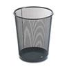 ROL22351 Wastebasket, Round, Wire Mesh, 11 1/2 dia x 14 1/4 h, Black ROL 22351