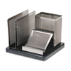 ROLE23552 Distinctions Desk Organizer, 5 7/8 x 5 7/8 x 4 1/2, Metal/Black ROL E23552
