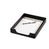 ROL62523 Wood Tones Letter Desk Tray, Wood, Black ROL 62523