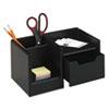 ROL62543 Wood Tones Handheld Electronics Organizer, Wood, 10 x 6 x 5, Black ROL 62543