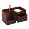 ROL98800 Wood Tones Handheld Electronics Organizer, 10 x 6 x 5, Mahogany ROL 98800