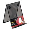 ROLFG9C9500BLA Nestable Wire Mesh Freestanding Desktop Copyholder, Stainless Steel, Black ROL FG9C9500BLA