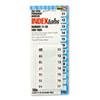 RTG31002 Side-Mount Self-Stick Plastic Index Tabs Nos 11-20, 1in, White, 104/Pack RTG 31002