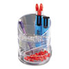 RUB14096ROS Small Storage Divided Pencil Cup, Plastic, 4 1/2 dia. x 5 11/16, Clear RUB 14096ROS