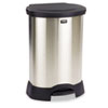 RCP614687BK Step-On Container, Oval, Stainless Steel, 23 gal, Black RCP 614687BK