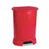 RCP614700RD Step-On Container, Oval, Polyethylene, 30 gal, Red RCP 614700RD
