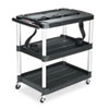 Rubbermaid® Commercial MediaMaster® Three-Shelf AV Carts | www.SelectOfficeProducts.com