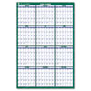AAGPM21028 Recycled Vertical Erasable Wall Planner, Yearly Calendar, 24