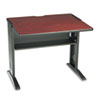 SAF1930 Computer Desk W/ Reversible Top, 35-1/2w x 28d x 30h, Mahogany/Medium Oak/Black SAF 1930