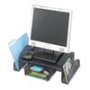 SAF2159BL Onyx Mesh Steel Monitor Stand, 19 1/2 x 11 x 6 1/4, Black SAF 2159BL