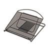 SAF2161BL Onyx Adjustable Steel Mesh Laptop Stand, 12 1/4 x 12 1/4 x 1, Black SAF 2161BL