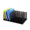 SAF3253BL Mesh Desk Organizer, Eight Sections, Steel, 19 3/8 x 11 3/8 x 8, Black SAF 3253BL