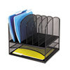 SAF3255BL Mesh Desk Organizer, Eight Sections, Steel, 13 1/2 x 11 3/8 x 13, Black SAF 3255BL
