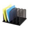 SAF3256BL Mesh Desk Organizer, Five Sections, Steel, 12 1/2 x 11 1/4 x 8 1/4, Black SAF 3256BL