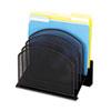 SAF3257BL Mesh Desk Organizer, Five-Tiered Sections, Steel, 11 1/4 x 7 1/8 x 11 5/8, Black SAF 3257BL