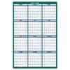 AAGPM31028 Recycled Vertical Erasable Wall Planner, Yearly Calendar, 32