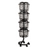 SAF4139CH Wire Rotary Display Racks, 16 Compartments, 15w x 15d x 60h, Charcoal SAF 4139CH