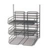 SAF4150CH Panelmate Triple-Tray Organizer, 13 1/2 x 17 1/4, Charcoal Gray SAF 4150CH