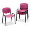 SAF4185BG Contour Stacking Chairs, Burgundy w/Black Frame, 4/Carton SAF 4185BG