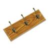 SAF4216MO Wall Rack, Three Double-Hooks, Wood, Medium Oak SAF 4216MO